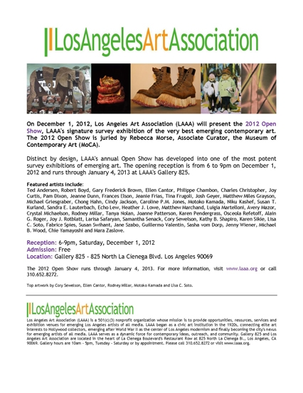 LAAA/Gallery 825 - Open Show 2012